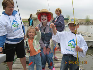 Fishing fun with Rosie the Clown